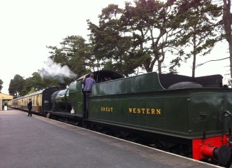 team Train waiting at Cheltenham Racecourse Station